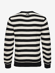 J. Lindeberg - Rico Striped Structure Sweater - rundhals - black - 2