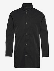 Terry Poly Stretch coat - BLACK