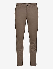 J. Lindeberg - Chaze Flannel Twill Pants - anzugshosen - wood brown - 0