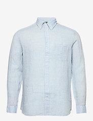 J. Lindeberg - Daniel BD-Linen Melange - basic-hemden - dusk blue - 0