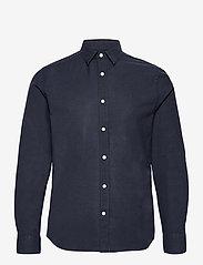 J. Lindeberg - Stretch Oxford Slim Shirt - basic-hemden - jl navy - 1
