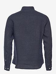 J. Lindeberg - Clean Linen Slim Shirt - basic-hemden - jl navy - 2