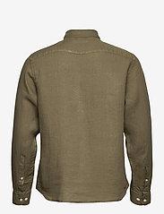 J. Lindeberg - Clean Linen Slim Shirt - basic-hemden - lake green - 2