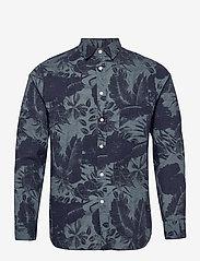 J. Lindeberg - Seasonal Print Reg Fit Shirt - leinenhemden - jl navy - 1