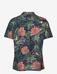 J. Lindeberg - Seasonal Print SS Resort Shirt - leinenhemden - black - 2