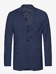 J. Lindeberg - Ben Soft-Voyager Wool - single breasted blazers - mid blue - 0