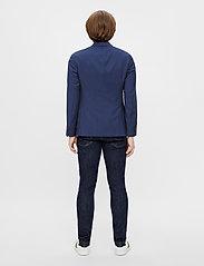 J. Lindeberg - Hopper U Comfort Wool Blazer - single breasted blazers - midnight blue - 5