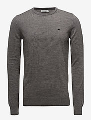 J. Lindeberg - Lyle True Merino - basic-strickmode - grey melange - 0