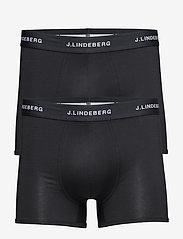 J. Lindeberg - Mens Trunk 2-pack underwear - boxershorts - black - 0