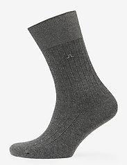 J. Lindeberg - Mens Sock Rib Knit - reguläre strümpfe - grey melange - 0