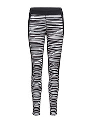 W Running Tights Comp. Poly - BLACK STRIPE