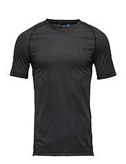 M Active T-Shirt Elements Jer. - BLACK MELANGE