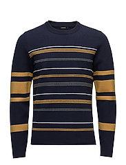 Sky Stripe Knit - JL NAVY