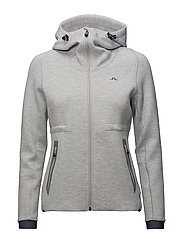 W Athletic Hoodie Tech Sweat - STONE GREY MELANGE