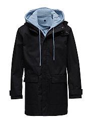 M Nathan Coat Bonded Weave - BLACK