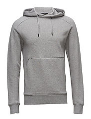 Throw Hood Ring Loop Sweat P - LT GREY MELANGE