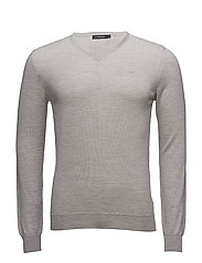 Newman V-neck Perfect Merino - STONE GREY