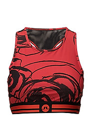 W Alexis printed - RACING RED FLOWER PRINT