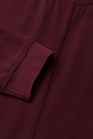 J. Lindeberg - Noelle Drapy Crepe - short dresses - burgundy - 2