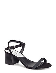 Block Heel Low Suede - BLACK