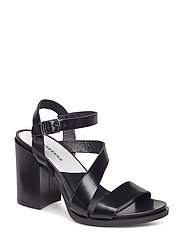 Block Heel High Lux Leather - BLACK