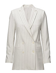 Pearl Fab Pinstripe - OFF WHITE