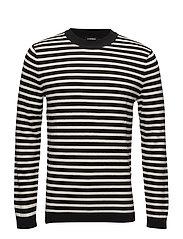 Ibsen Stripe Combed Cotton - BLACK