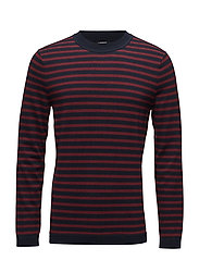 Ibsen Stripe Combed Cotton - JL NAVY