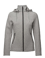 W Louna Tech sweat - STONE GREY MELANGE