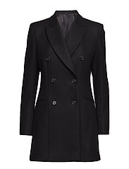 Cypress Coat Compact Melton - BLACK