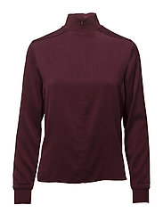Heidi Washed Silk - BURGUNDY