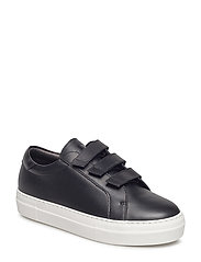 Velcro Sneaker Solid Leather - BLACK