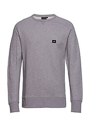 Throw C-Neck Ring loop sweat - LT GREY MELANGE