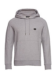 Throw Hood Ring loop sweat - LT GREY MELANGE