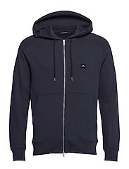 Throw Zip Hood Ring loop sweat - JL NAVY