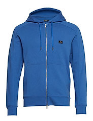 Throw Zip Hood Ring loop sweat - WORK BLUE