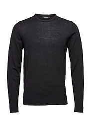 Newman C-Neck Perfect Merino - BLACK