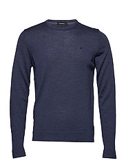 Newman C-Neck Perfect Merino - MID BLUE