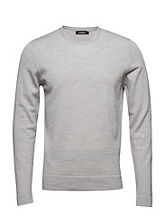 Newman C-Neck Perfect Merino - STONE GREY