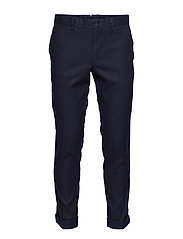Grant Cotton Linen Stretch - JL NAVY