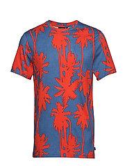 Silo Printed Supima Jersey - DEEP RED