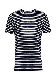 Coma Clean Striped Linen - JL NAVY