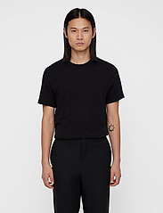 J. Lindeberg - Silo Jersey Tee - basic t-shirts - black - 0