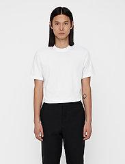 J. Lindeberg - Silo Jersey Tee - basic t-shirts - white - 0