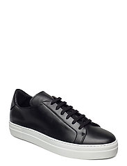 Signature Leather Sneaker - BLACK