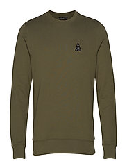 Throw c-neck-Ring Loop Sweat - FOREST GREEN