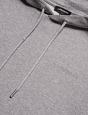 J. Lindeberg - Throw Hood-Clean sweat - basic sweatshirts - grey melange - 2