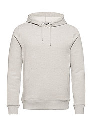 Throw Clean Sweat Hoodie - GREY MELANGE