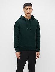 J. Lindeberg - Throw Clean Sweat Hoodie - basic-sweatshirts - hunter green - 0
