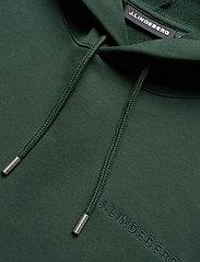 J. Lindeberg - Throw Clean Sweat Hoodie - basic-sweatshirts - hunter green - 6